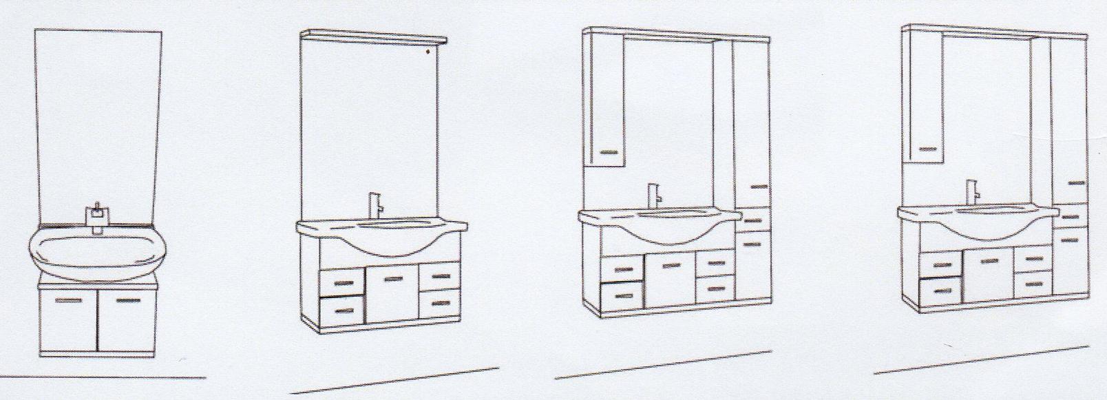 Lift Waschtisch Unterputz - Aufbauvarianten