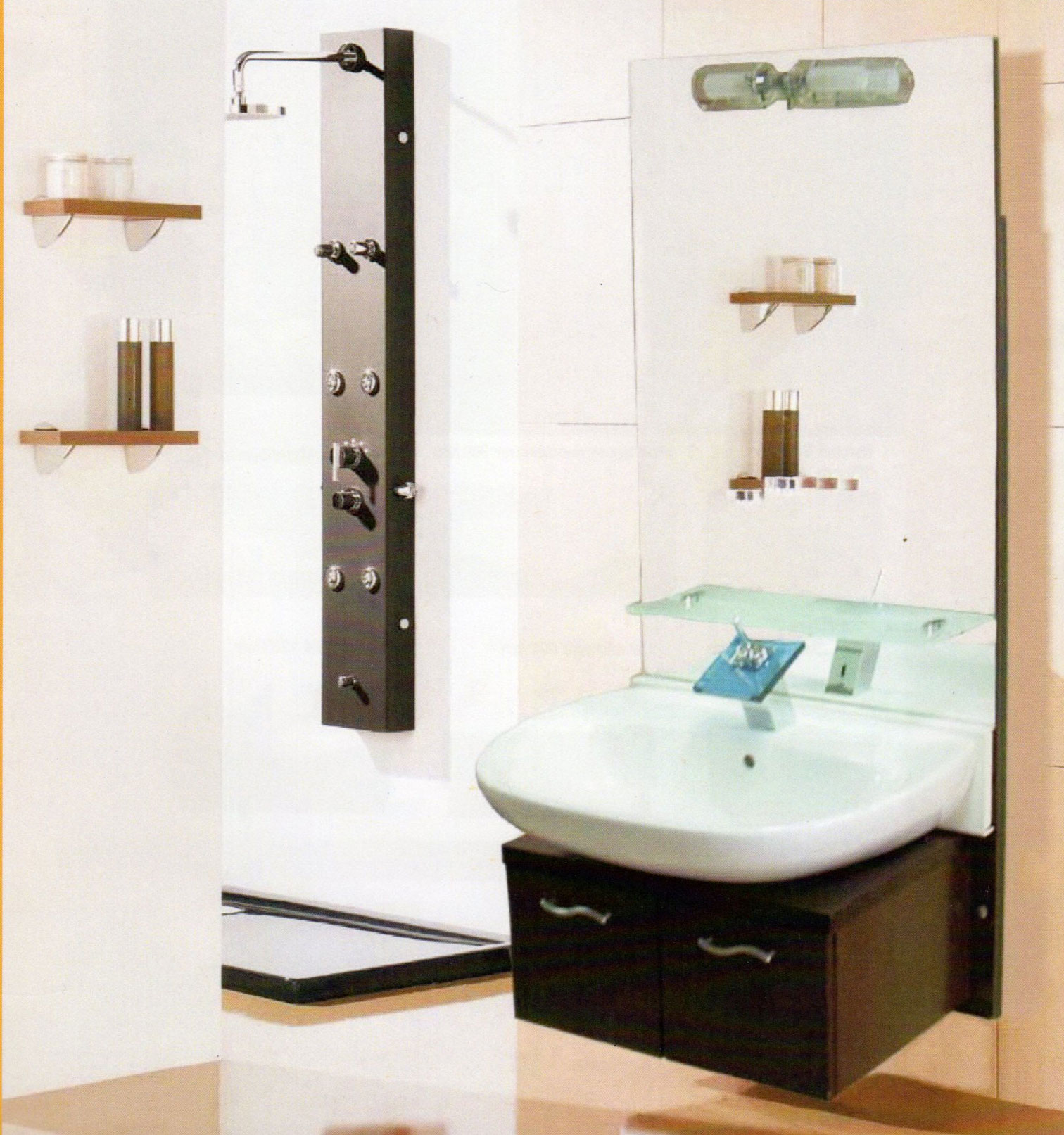 Lift Waschtisch Unterputz - Integration im Bad