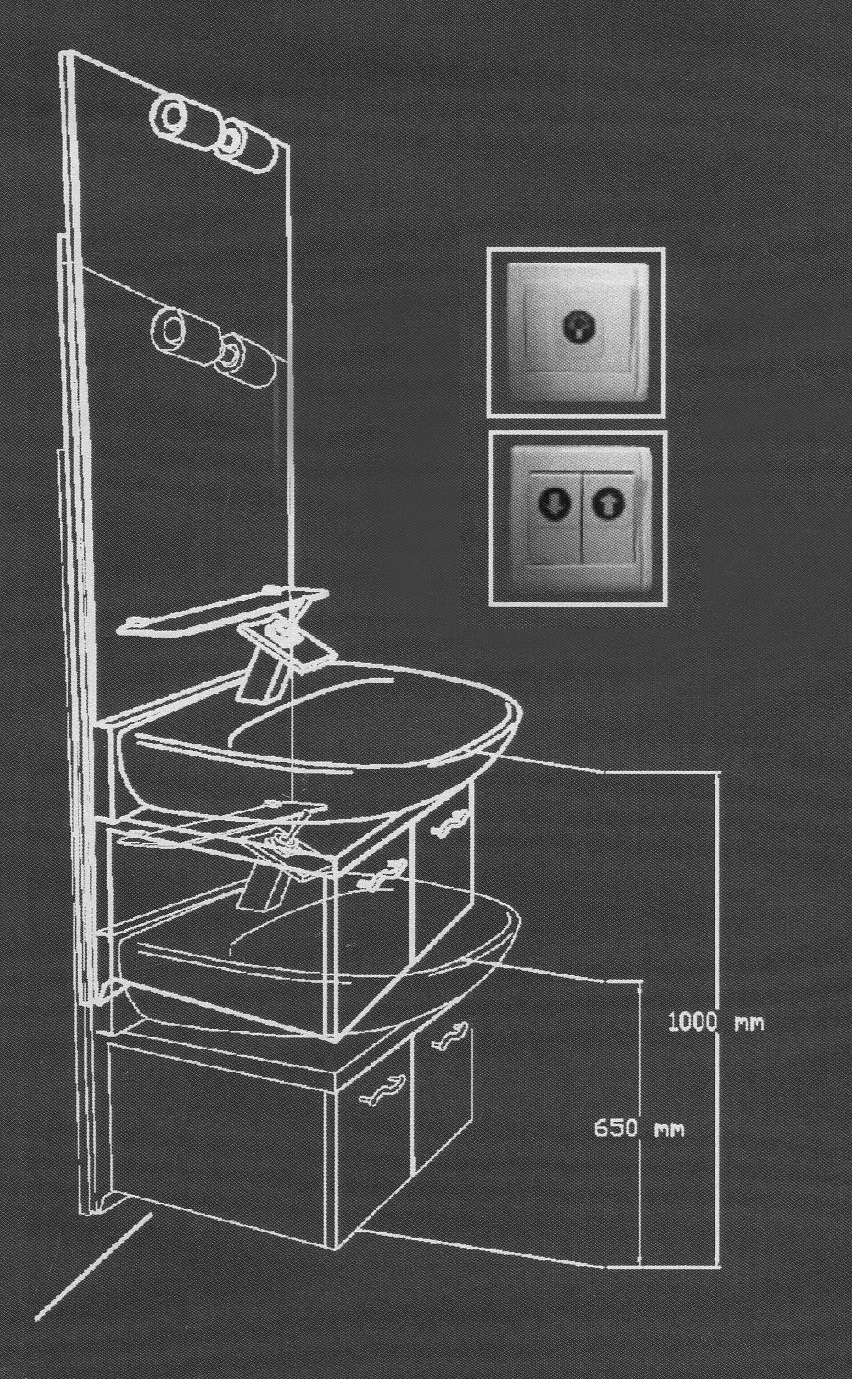 Lift Waschtisch Unterputz - Höhenverstellung