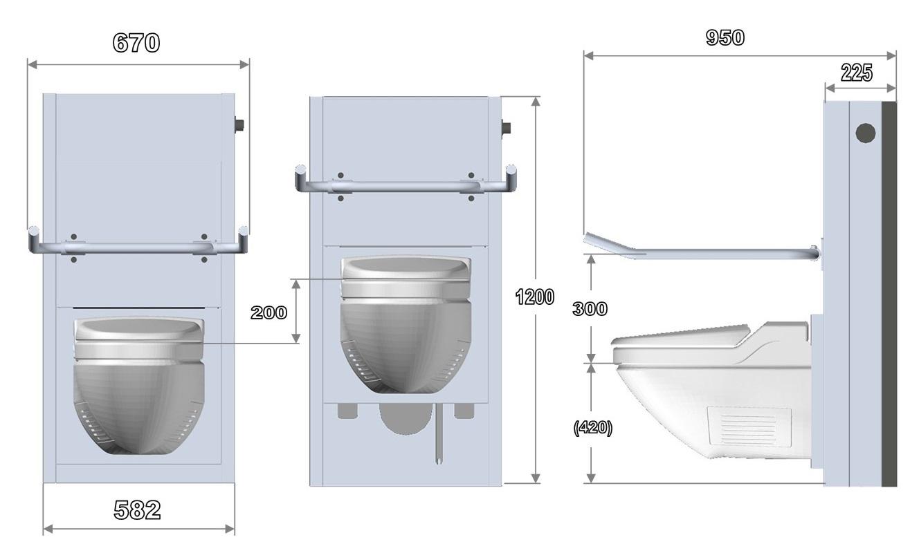 Lift Toilette Stv100 Attris Anpassbare Sanitartechnik