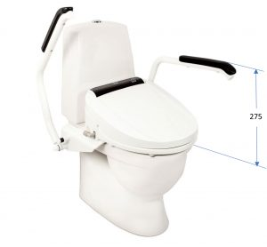 Santy system - distance (mm) between toilet an handles
