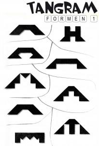 Tangram Aufgaben Formen 1
