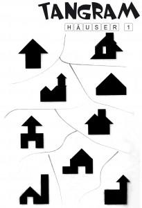 Tangram Aufgaben Häuser 1