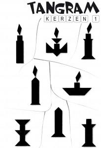 Tangram Aufgaben Kerzen 1