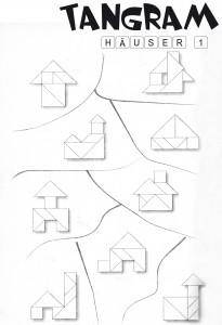 Tangram Lösungen Häuser 1