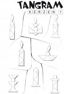 Tangram Lösungen Kerzen 1