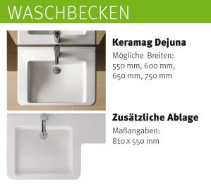 Lift Waschtisch Unterputz - Waschbecken