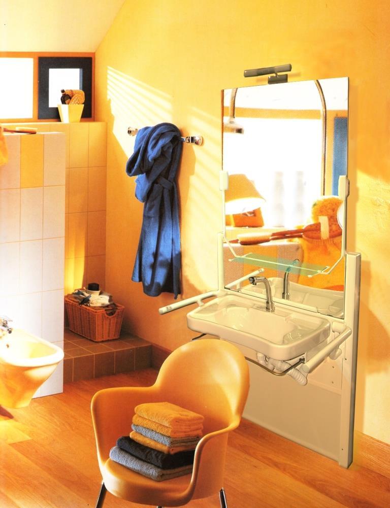 Lift Waschtisch Aufputz - elektrisch höhenverstellbar und mechanisch neigbar