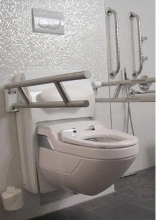 Lift Toilette CarePlus - höhen- und neigungsverstellbar sowie barrierefrei