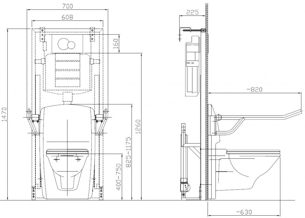 Lift Toilette Care - technische Daten