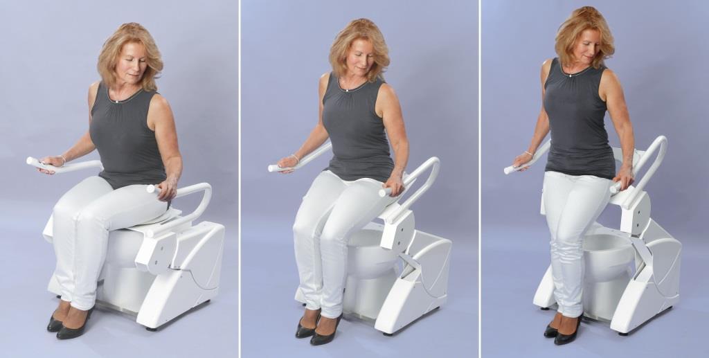 WC Setz- und Aufstehhilfe R2D2 mit stufenloser, elektronischer Höhen- und Neigunsverstellung